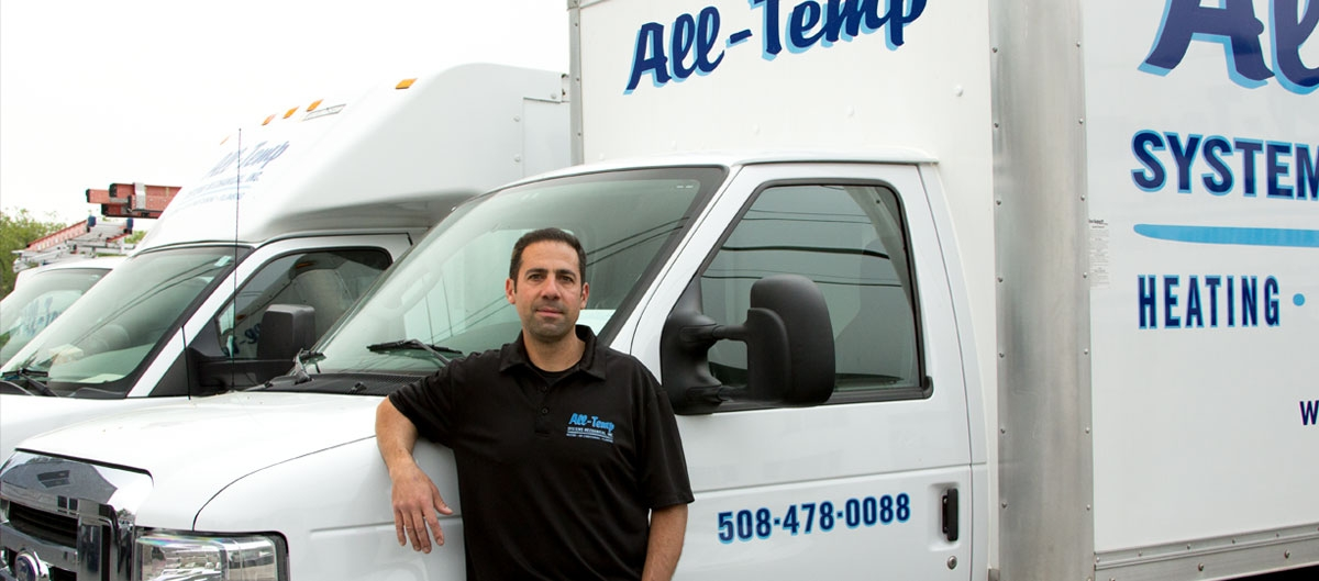Bob Zagame Jr, President of All-Temp Systems Mechanical in Milford, MA