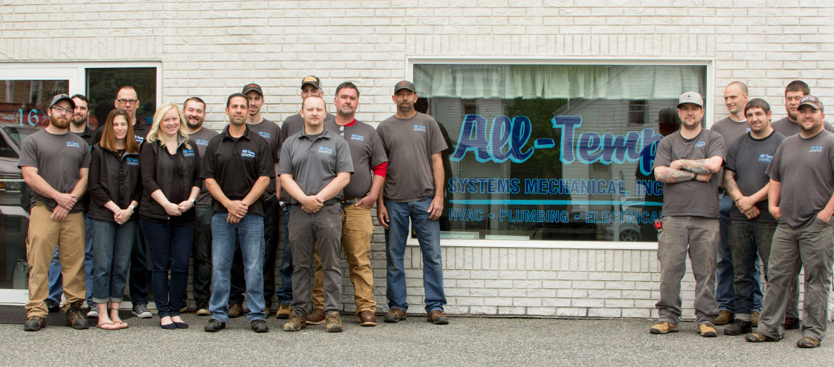 A strong team at Milford, MA's All-Temp Systems Mechanical Inc.